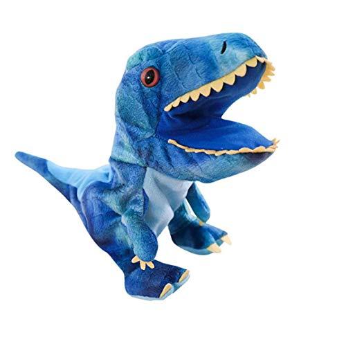 ruiting Dinosaurio de Juguete de Felpa Dinosaurio Marionetas de Mano Juguetes Animal de la Historieta Marionetas de Mano con la Boca de Trabajo Juegos de rol Juguete para niños