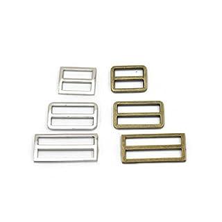 "scheda micoshop - 15 pezzi regolatori triglides slides per cinturino in pelle con fibbie da 25 mm, 38 mm, 50 mm, 3 colori a scelta, mix 2 colori, 1"" (25mm)"