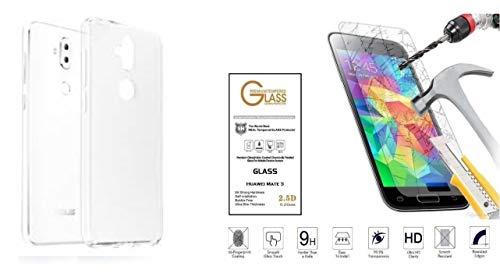 compatibile Para Asus Zenfone 3 Max ZC520TL X008D (5.2) Funda protectora de gel de silicona transparente suave TPU + Protector de pantalla de cristal templado antigolpes 9H