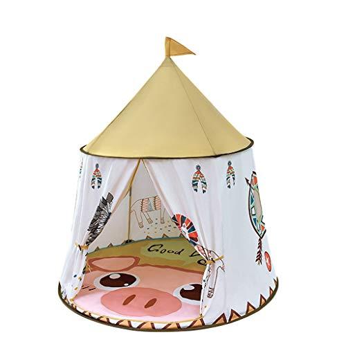 CSQ Yurt de Dibujos Animados Carpa, Jugar con el Interior de Habitaciones de niños Casa La Carpa con el patrón de Estilo Indio, Tienda de campaña de Descanso de la Comida campestre con niños Mat Casa