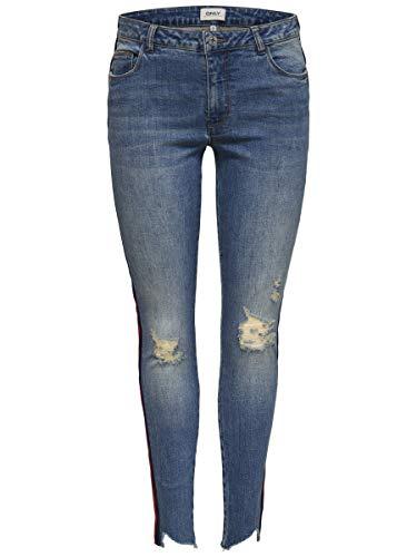 ONLY dames jeans Carmen Skinny Fit verkort