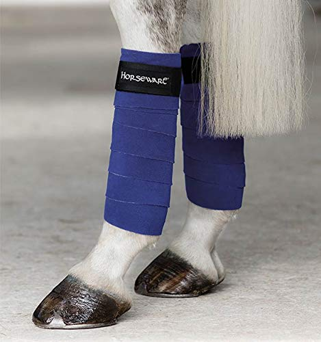 Horseware Ireland Fleece-Bandagen, Damen, Royal Blue/Silver, 4 Pack