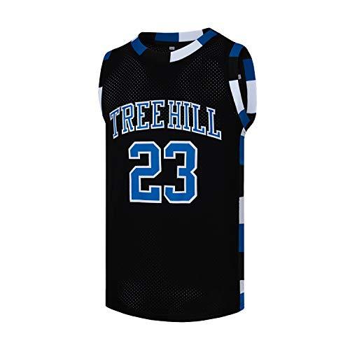 Mens Basketball Jerseys Nathan Scott #23 Ravens Stitched Sports Movie Shirts (Black,Medium)