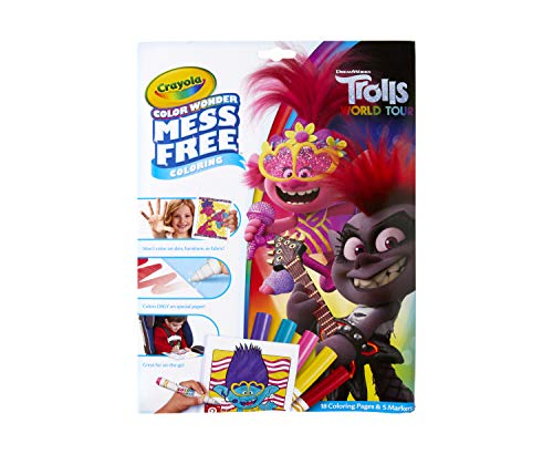 Crayola Wonder Trolls 2 Pages, Mess Free Coloring for 3.97