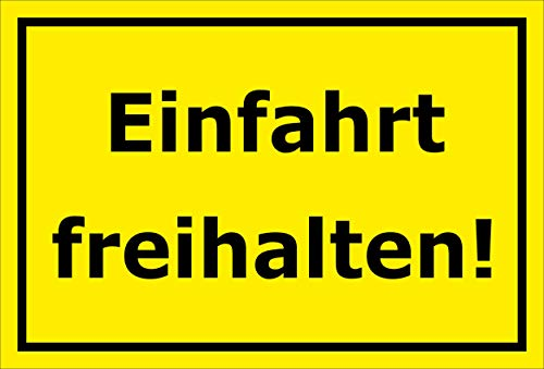 Melis Folienwerkstatt Schild - Einfahrt freihalten - 30x20cm | Bohrlöcher | 3mm Aluverbund – S00065-067-C -20 VAR