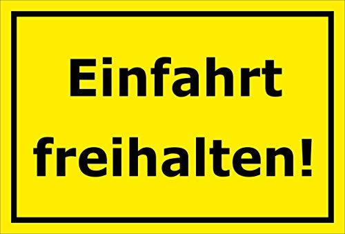 Melis Folienwerkstatt Schild - Einfahrt freihalten - 30x20cm   Bohrlöcher   3mm Aluverbund – S00065-067-C -20 VAR