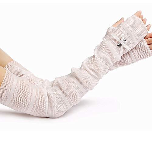 Ouzhoub Winterhandschuhe für Damen, Frauen Armlänge Lange Handschuhe Fantasie-Partei-Handschuhe Ärmel Leistung Cosplay Handschuhe Sonnenschutz UV-Schutz einen.Kreislauf.durchmachenhandschuh