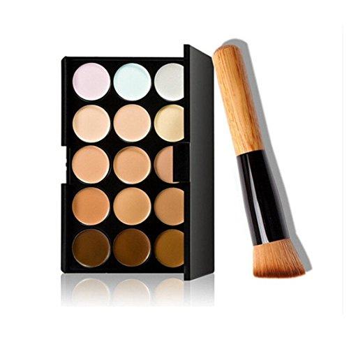 VWH 15 Couleurs de maquillage Correcteur Contour Palette et pinceau de maquillage