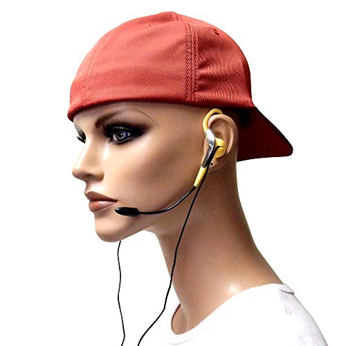 Wired Headset - Microphone Headset - Wired Headset with Microphone - Headset with Microphone - Slimline Clip-On w/Positional Microphone, Rosetta Stone - Yellow