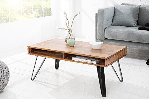 Du Nord Design Couchtisch Dayton 100cm Sheesham Massivholz Wohnzimmertisch Sofatisch Natur Holztisch