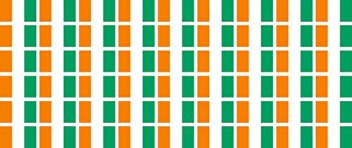 Mini Aufkleber Set - Pack glatt - 20x12mm - Sticker - Elfenbeinküste - Flagge - Banner - Standarte fürs Auto, Büro, zu Hause & die Schule - 54 Stück