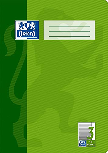 Oxford 100050364 Heft A4 / 16 Blatt Lineatur 3 mit Rand
