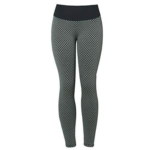 WWLIN Pantalones de Yoga de Malla 3D para Mujer, Leggings sin Costuras Push Up de Cintura Alta, Mallas Deportivas para Mujer, Gimnasio, Secado rápido, Mallas para Correr