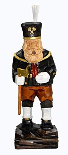 Holzfigur Räuchermann Bergmann 25cm mittel handgeschnitzt aus Lindenholz