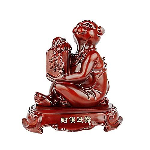 yunyu Gartenskulptur im Freien, Harzwächter mit chinesischen Tierkreisstatuen, Feng Shui-Dekor, Für Zuhause & Büro Reichtum & viel Glück anziehen, Bestes Einweihungsgeschenk zur Einweihungsfeier,