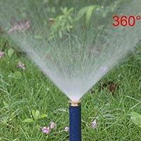 ガーデン 5個の1/2インチめねじで調整可能ポップアップスプリンクラー90から360度の自動格納式の芝生の灌漑スプリンクラー タイマー付き (Color : 360 degrees)