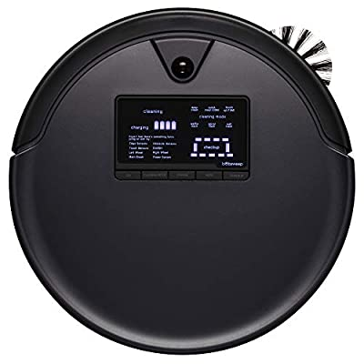 bObsweep Pet Hair Plus Robotic Vacuum Cleaner and Mop, Midnight
