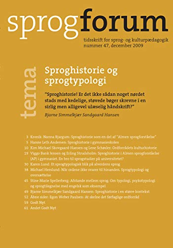Sproghistorie og sprogtypologi (Sprogforum Book 47) (Danish Edition)