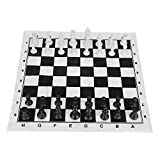 Set da Scacchi, Portatile Plastica International Chess Medieval Entertainment Gioco da Tavolo Set Nero & Bianca