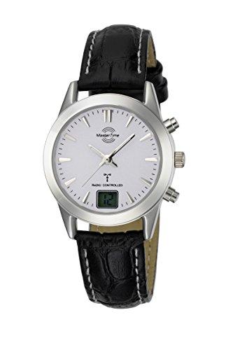 Master Time Funk Quarz Damen Uhr Analog mit Leder Armband MTLS-10472-41L
