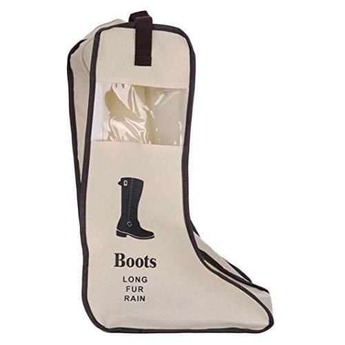 ALONGB Stiefel Aufbewahrungstasche, Staubdicht Faltbare Stiefel Aufbewahrungstasche Schuhe Veranstalter Tragbare Reise Protector Taschen Lange Stiefel Abdeckung Container (Beige)