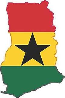 StickerTalk Die Cut Ghana Flag Vinyl Sticker, 2 inches by 3 inches