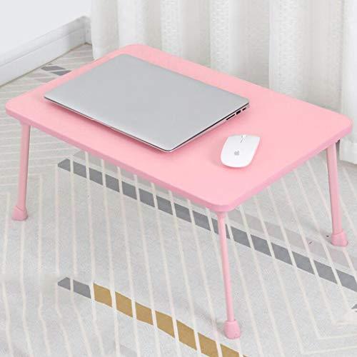 CHGDFQ Escritorio para estudiantes universitarios, escritorio para ordenador portátil, mesa plegable, mesa de comedor pequeña para niños, 60 x 40 x 28 cm (color: rosa)