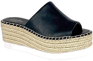 حذاء رياضي نسائي من CHARLES DAVID Charles حذاء رياضي مزود بنعل سميك أسود (7، أسود-SM)