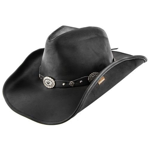 acd476bdb21f4 Stetson Roxbury - Shapeable Leather Cowboy Hat