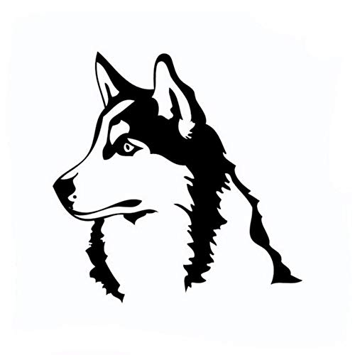 LLLYZZ Husky hond Siberisch Malamute Silhouet muursticker Cartoon hond Vinyl muursticker voor kinderkamer wooncultuur 43 * 43 cm