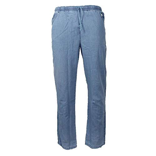 H und K Jogginghose in Jeansoptik blau Freizeithose Gummibund, Größe:56/58