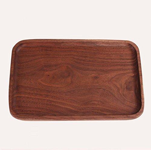 Lozse Nussbaum, Wasser Schale, Schale, rechteckig, Tee Tablett