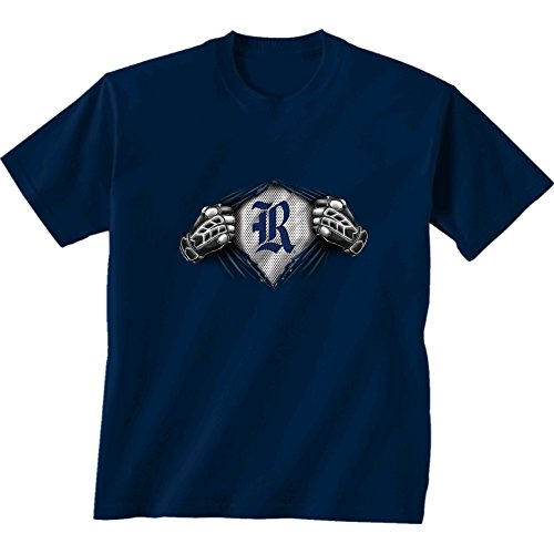 New World Graphics NCAA Rice Owls Children Unisex Youth Super Short Sleeve Tee, Large, Navy