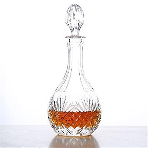QWEP Dispensador de Copa de Vino Decantador de Vino Cristal de Cristal Botella de Vino Dispensador Barra de Vino Decantador de Vidrio Coctel de Vidrio (Color : D)
