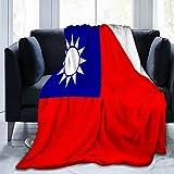 Taiwan-Flagge, weiche & warme Überwurfdecke, ultraweiche Micro-Fleece-Decke, 203,2 x 152,4 cm