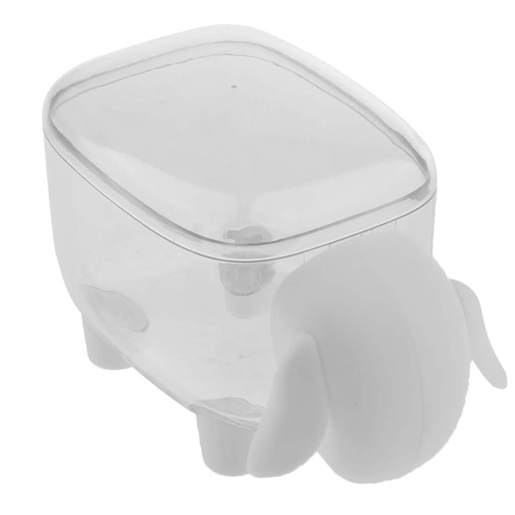 獣入場実験的Baoblaze 爪楊枝 棉棒 収納ボックス プラスチック 蓋付き コットンケース 小物収納 綿棒ケース 2色選ぶ - 白