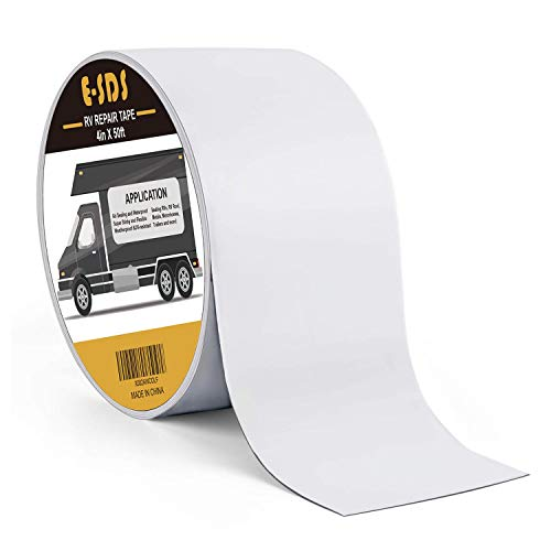 E-SDS RV Sealant Tape, 4 Inch x 50 Foot RV Roof Tape UV & Weather-Resistant Sealant Roofing Tape for RV Repair, Window, Boat Sealing, Truck Stop Camper Roof Leaks,White