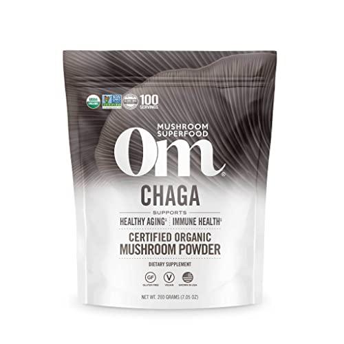 Om Mushroom Superfood Chaga Organic Mushroom...