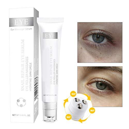 Crème Contour des Yeux 20ml Anti-gonflements des yeux Rouleau Essence Enlève Ridules Cernes yeux et Essence Sac yeux