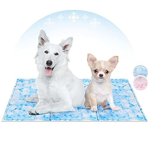 PUHOHUN Alfombrilla de Refrigeración para Perros, Autoenfriamiento Refrigerante Alfombra de Gel,Fresca Tela Sedosa Impermeable,es Conveniente para los Animales domésticos pequeños, medianos y Grandes