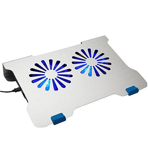 Base de refrigeración gaming para portátil Cooling Pad Oficina ventilador utiliza el enfriamiento del ordenador portátil Soporte de aleación de aluminio de refrigeración Pad Soporte de enfriamiento li