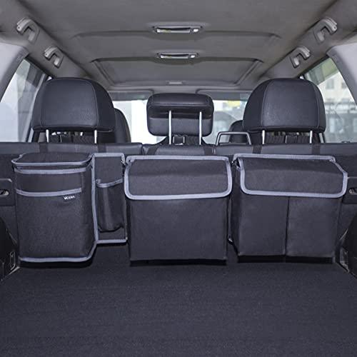 Vicera Organizador de maletero con velcro – Bolsa para maletero de coche con módulos divisibles y bolsa térmica integrada – Organizador y almacenamiento
