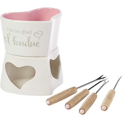 Precious Moments Conjunto de 5 peças para fondue Love, tamanho único, multi