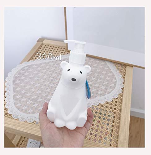 Dispensador de jabón Simple Personalidad Oso Polar Desinfectante Ducha Embotellado Ducha Embotellado Dispensador de jabón Amplio Capacidad Mano Presiona Ducha Botella Dispensador de jabón de cocina