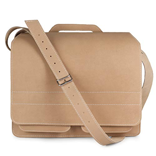 Große Aktentasche Lehrertasche Größe XL aus Leder, für Damen und Herren, Creme-Beige, Jahn-Tasche 676