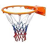 YINGZI Mini Aro de La Red del Aro de Baloncesto Profesional Hoop de Baloncesto Montado con 4 Tornillos para Niños para Jóvenes Adultos al Aire Libre Cesta Colgante Accesorios incluidos
