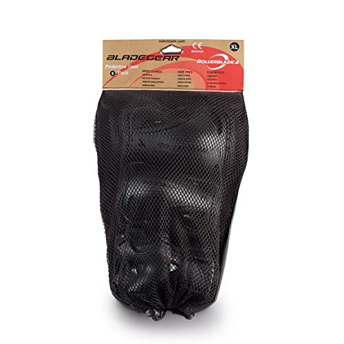 Rollerblade Erwachsene Schützer Bladegear 3 Pack, Black, XL