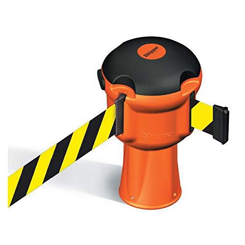 Orange Skipper Belt Barrier Unit with 9m Black & Yellow Tape by Skipper