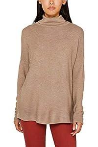 ESPRIT Damen 109Ee1I003 Pullover, Braun (Taupe 5 244), Small (Herstellergröße: S)