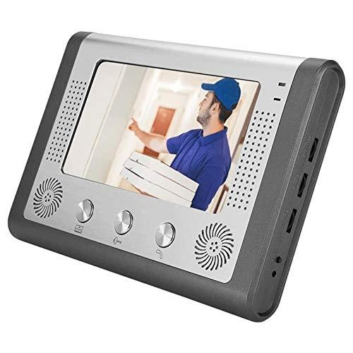 Timbre de Intercomunicador WiFi con Video LCD de 7 Pulgadas, Aleación de Aluminio Antioxidante a Prueba de Agua, con Función de Detección de Movimiento de Cámara Infrarroja